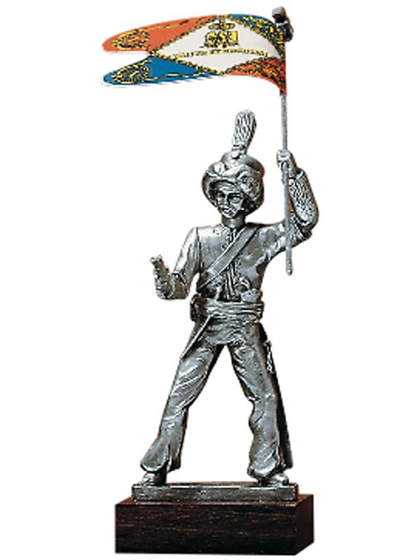 Figurine en etain porte drapeaux compagnie des mamelucks for Porte drapeaux