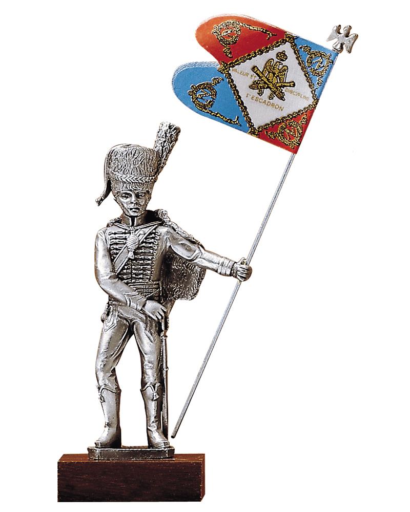 Figurine en etain porte drapeaux artillerie a cheval for Porte drapeaux