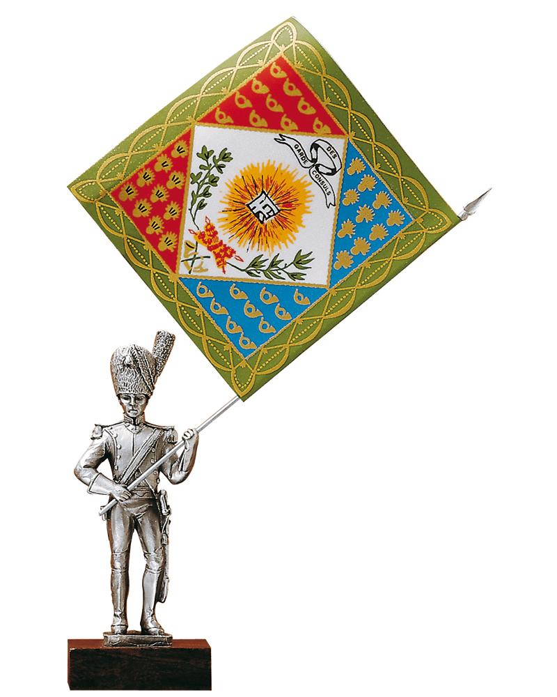 Figurine en etain porte drapeaux garde des consuls for Porte drapeaux