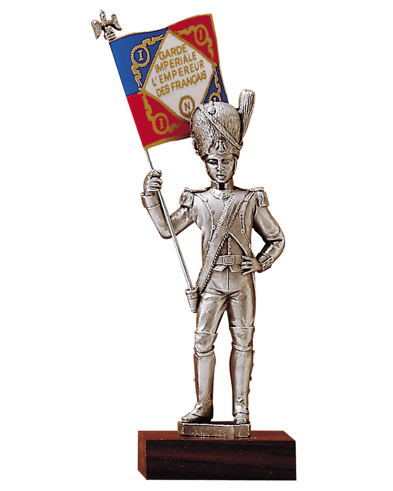 Figurine en etain porte drapeaux lieutenant for Porte drapeaux