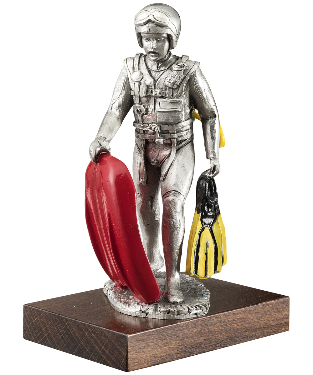 figurine pompier en  u00e9tain